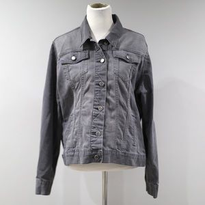 The Limited Washed Out Gray Jean Jacket Womens XXL